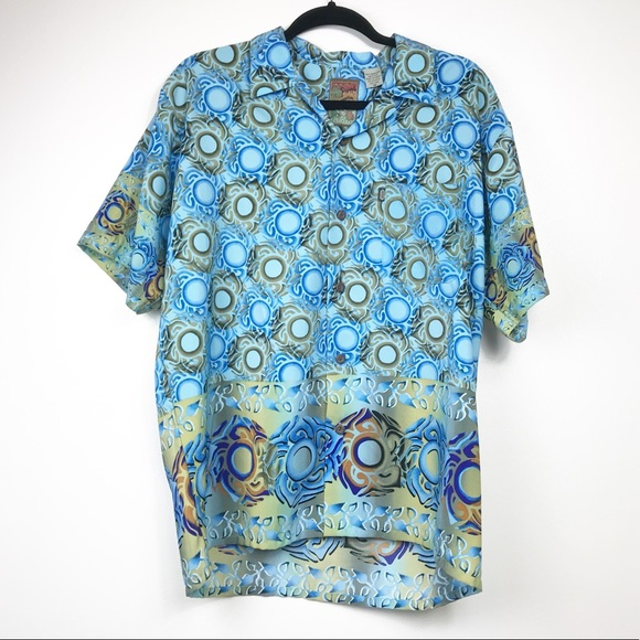 Pineapple Connection Other - Mens Pineapple  Connection Blue Oversized Shirt M